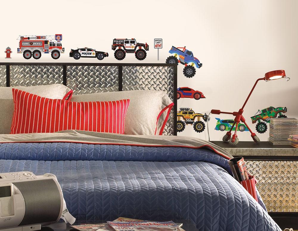 RoomMates Wandsticker New Speed Limit Trucks
