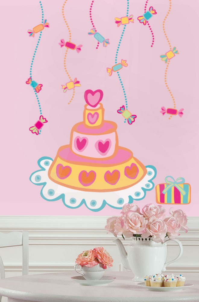 RoomMates Wandsticker Birthday Cake