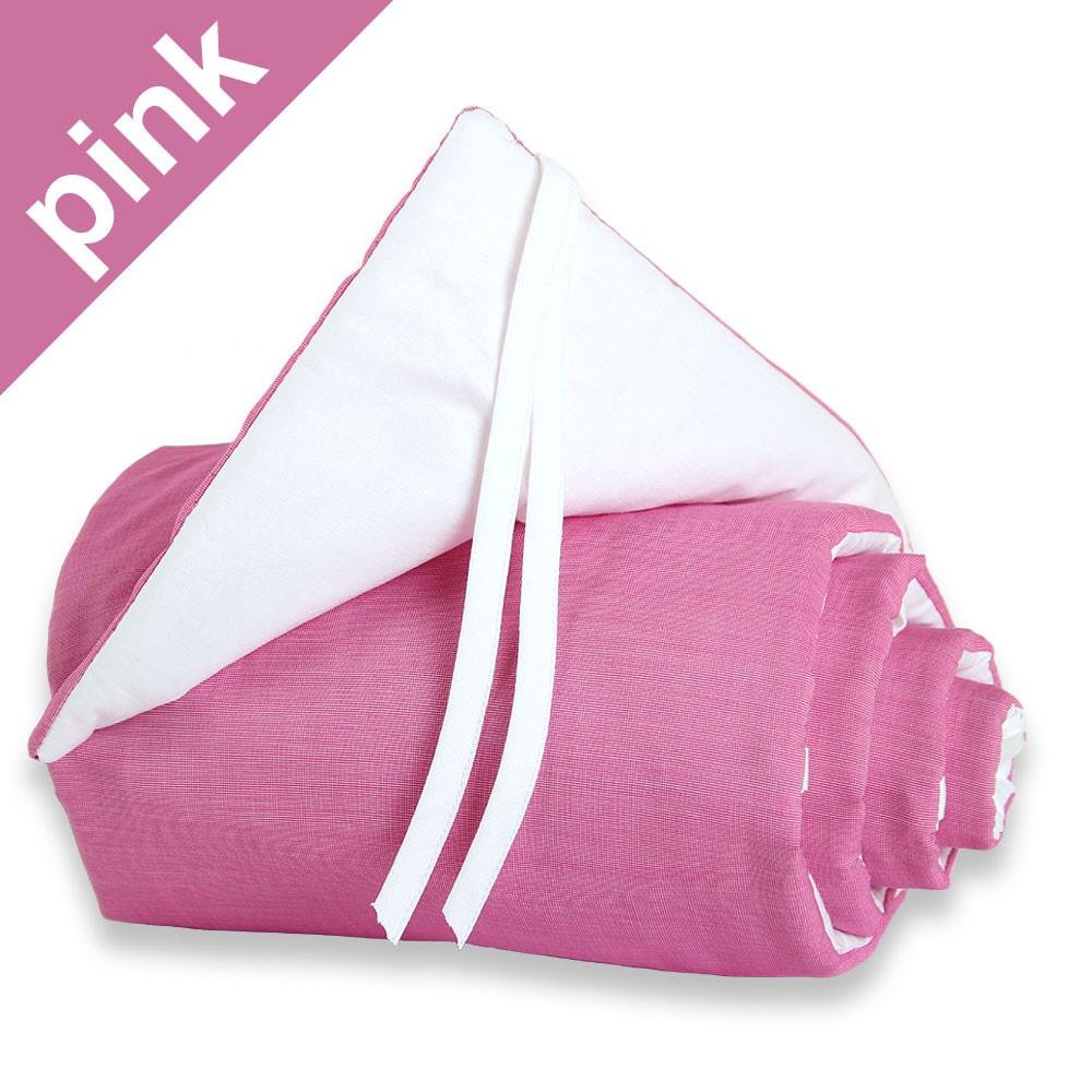 Babybay Nestchen pink/weiß für Beistellbett original