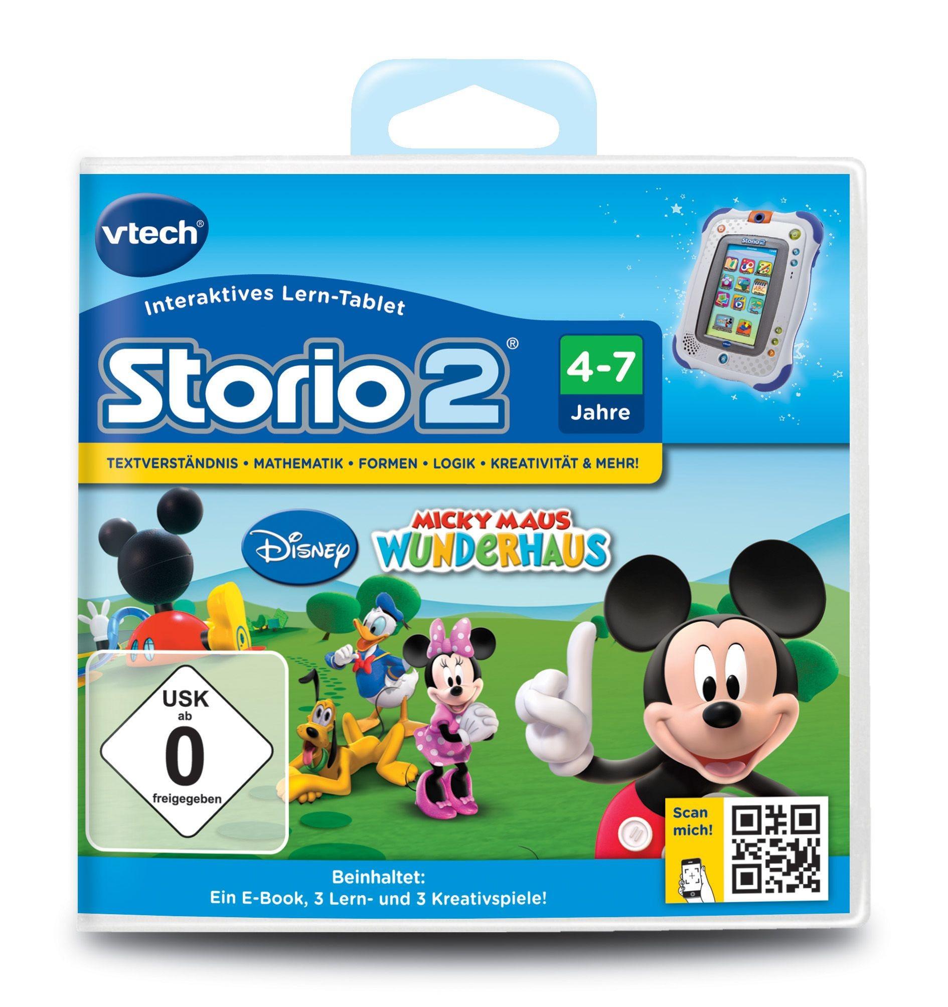 VTech Storio 2 Lernspiel Spielkassette Micky Maus Wunderhaus