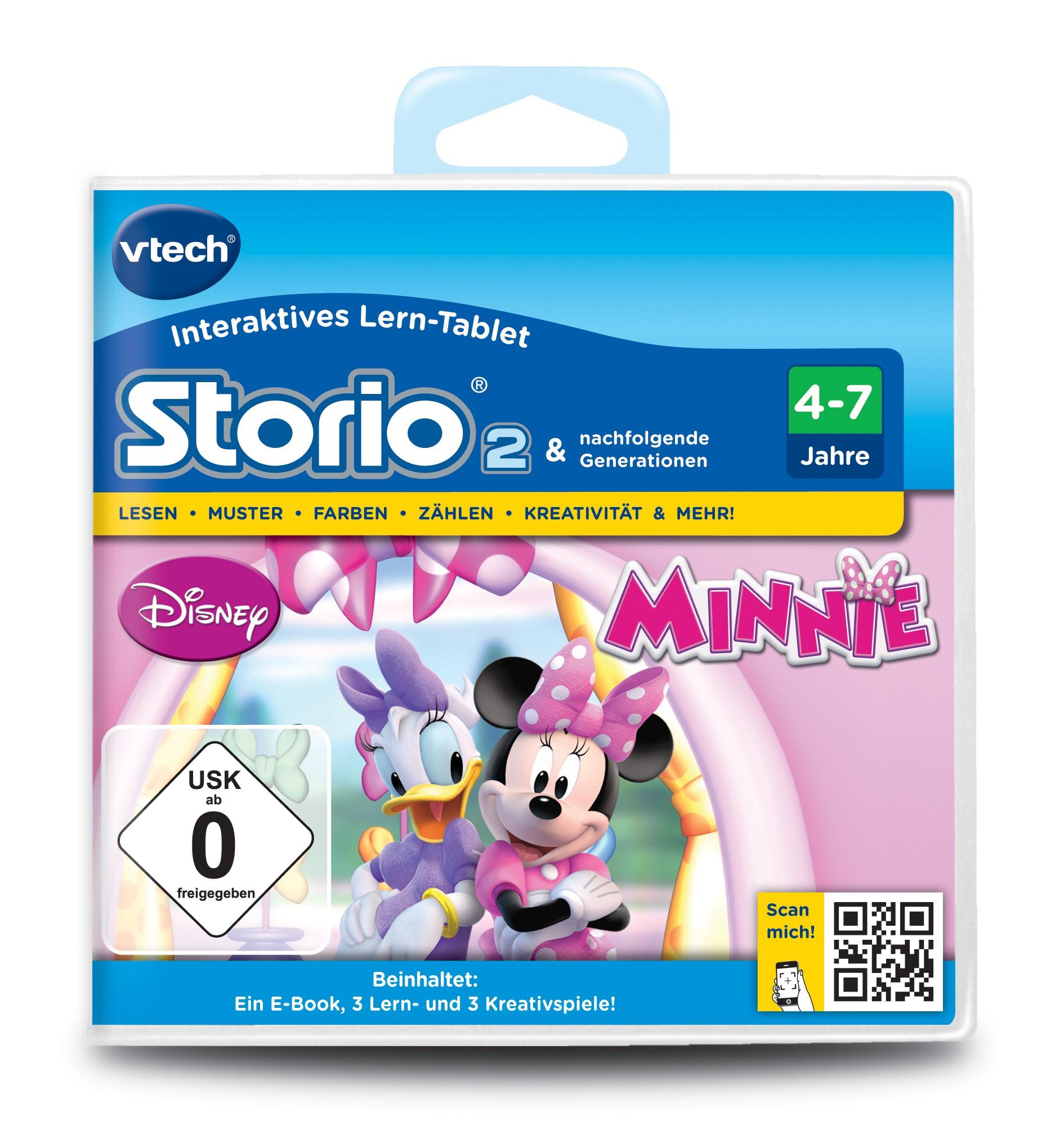 VTech Storio 2 Lernspiel Spielkassette Minnies Schleifen Boutique