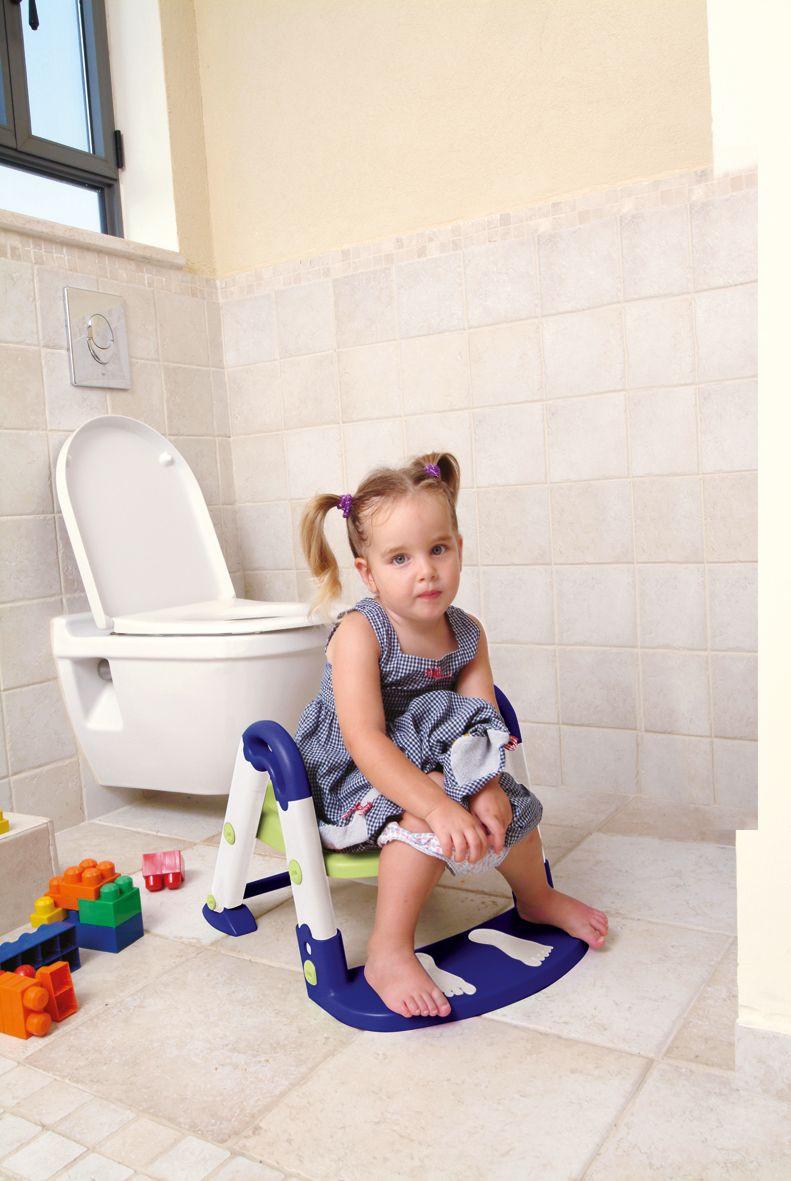 KIDSKIT Toilet-Trainer 3 in 1, blau/weiß
