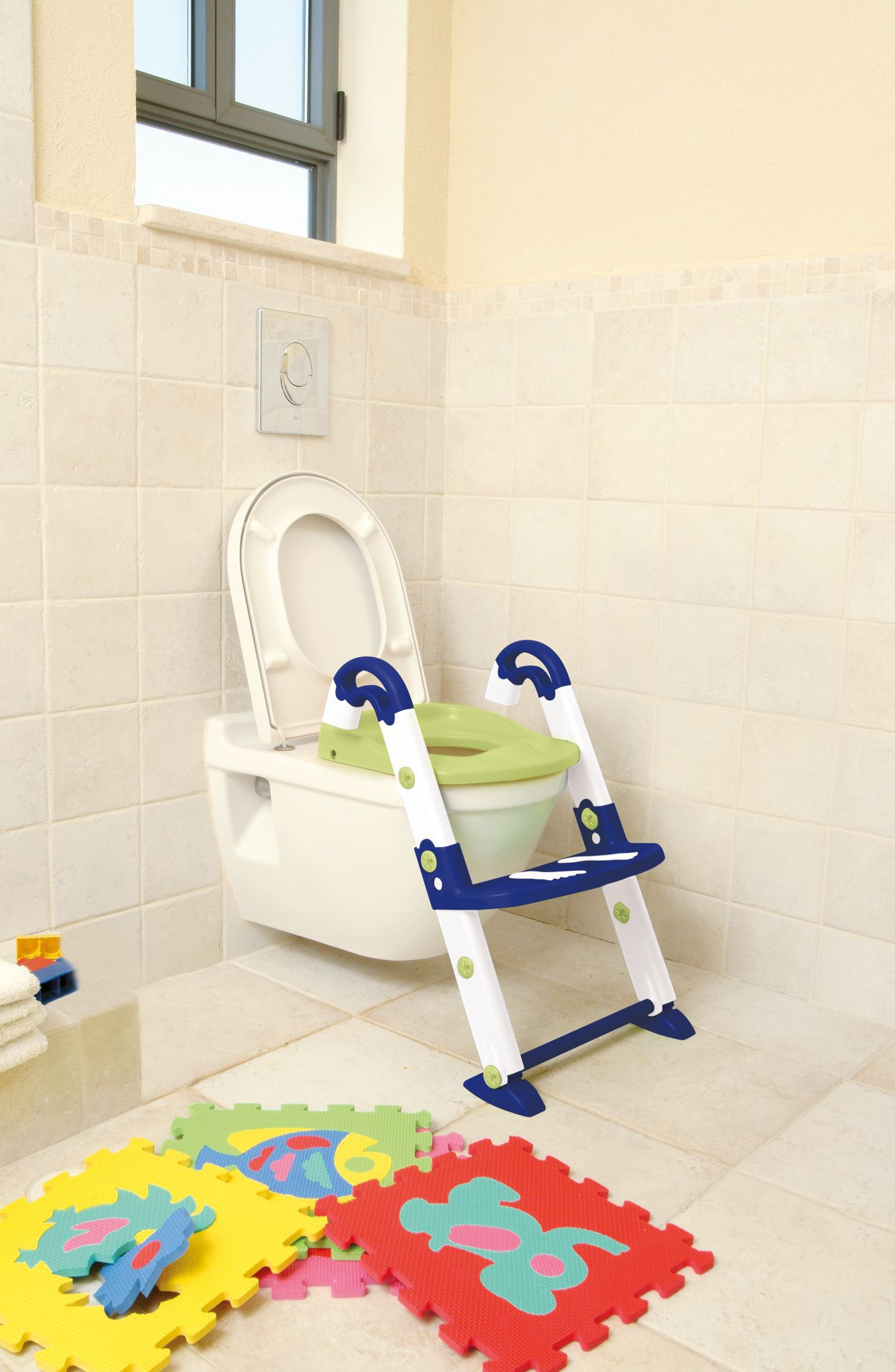 KidsKit Toilet-Trainer 3 in 1, blau/weiß