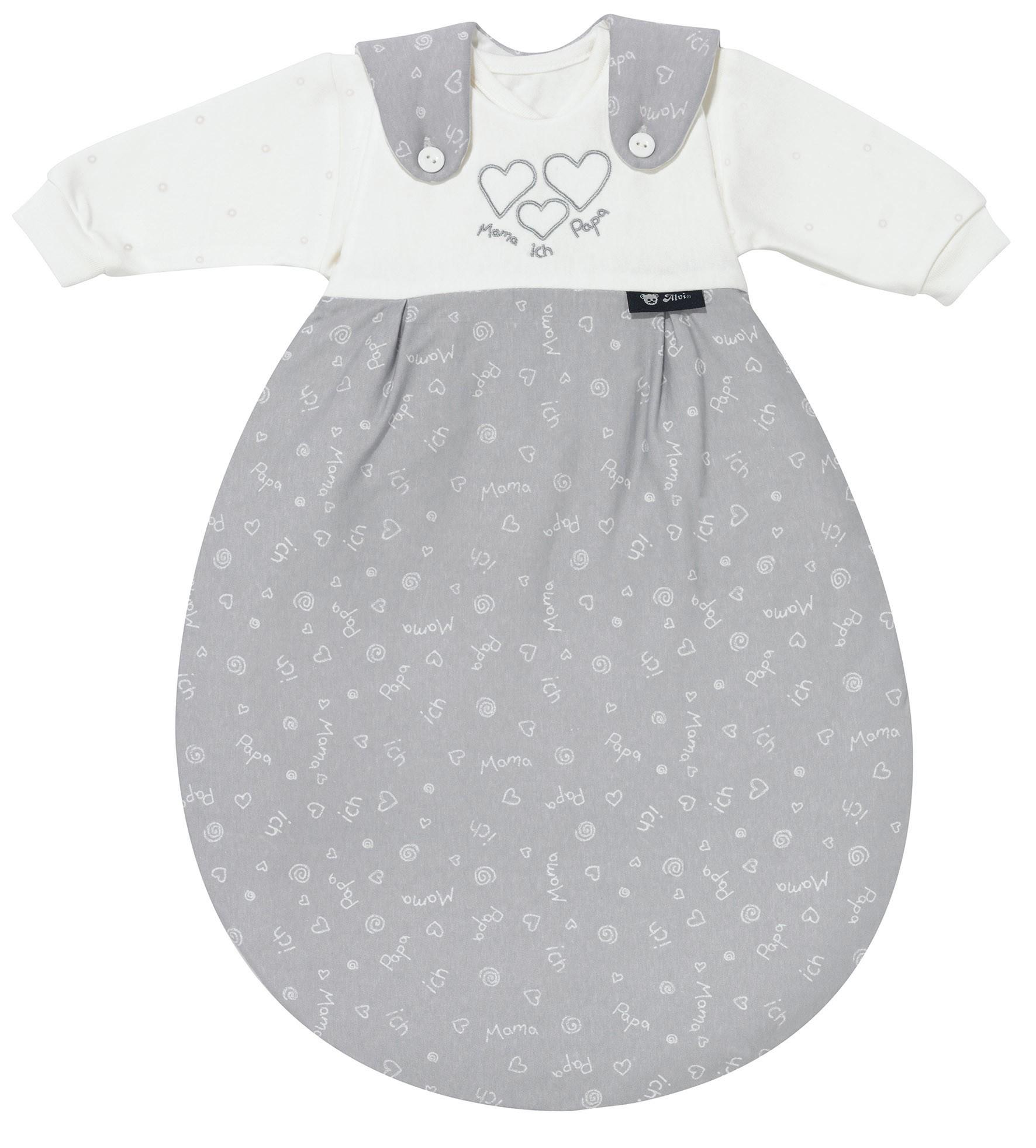 Alvi Baby Mäxchen Super-Soft 592-9 Mama-Papa-ich grau