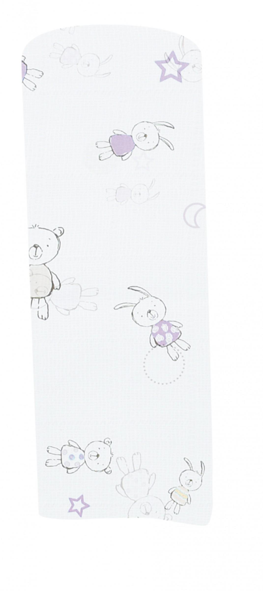 Alvi Mull-Windeln gerollt 3-er Pack 80 x 80 cm Friends rosa